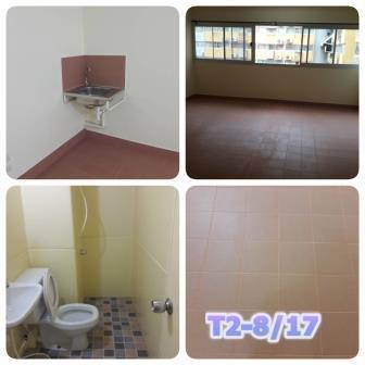 ให้เช่าห้อง   ห้องเล็กด้านใน อาคาร T2 ชั้น 9