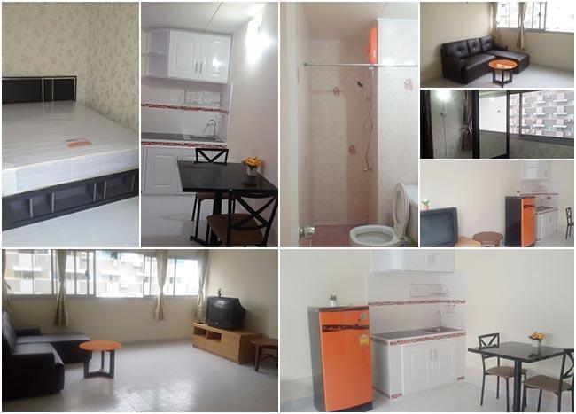 ที่พักเมืองทอง อาคาร P2 ห้องมุม โทร 0802235429